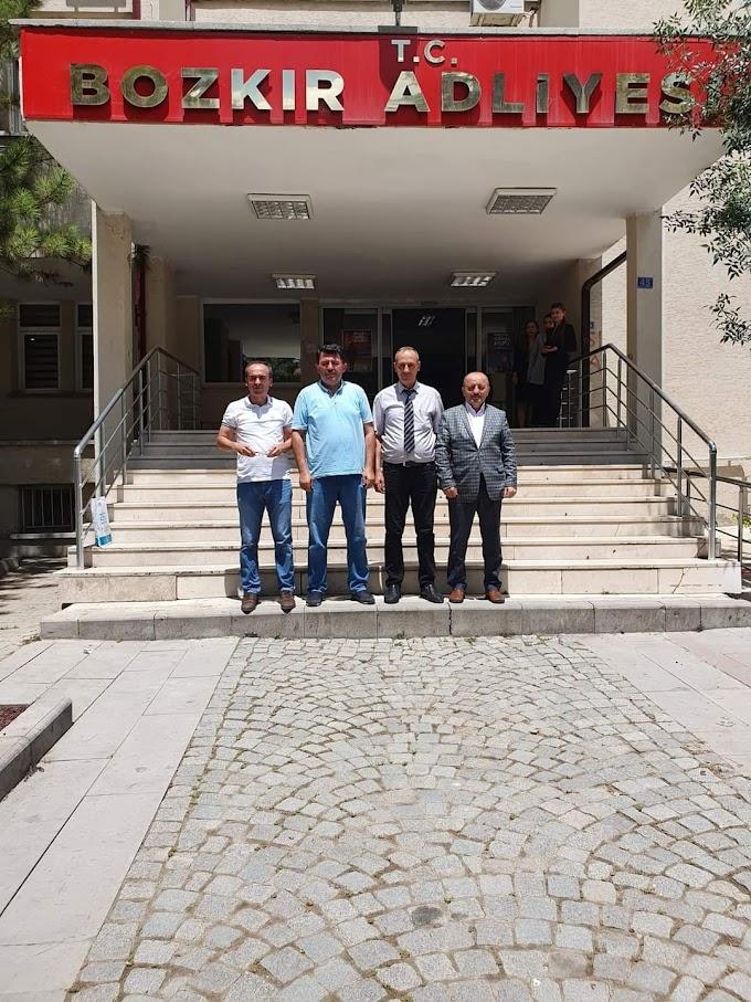 Büro Memur-Sen Konya Adliye Şubesi Bozkır Adliyesinde  temaslarda bulundu
