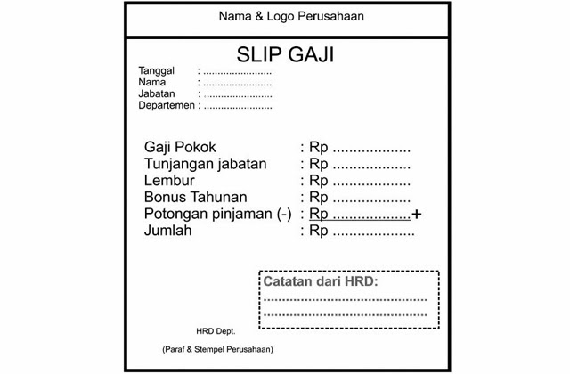 Contoh payslip gaji swasta You can download on on a forum