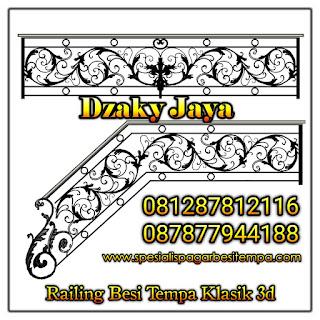 Desain railing besi tempa klasik mewah Dzaky Jaya