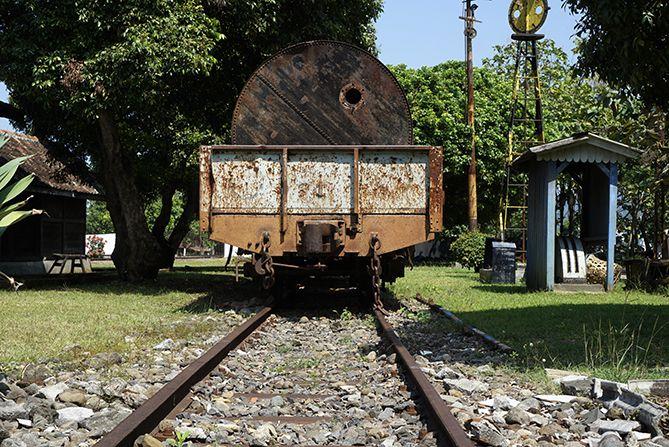 Jalur rel kereta api di Museum Kereta Api Ambarawa
