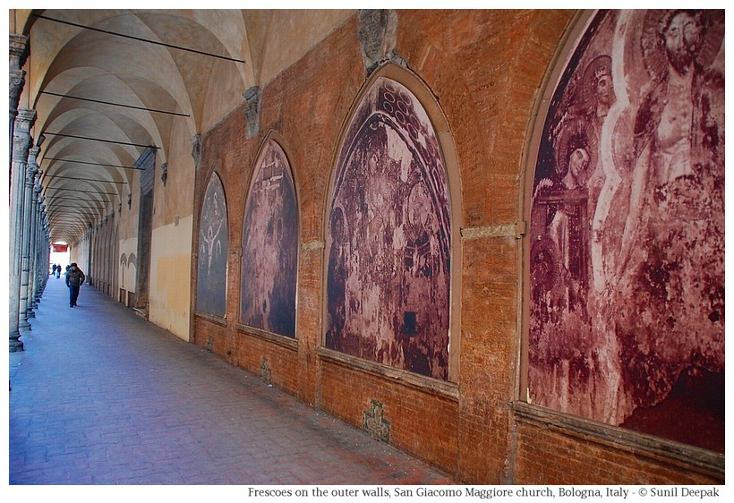 Frescoes in San Giacomo church, Bologna - Photo by Sunil Deepak