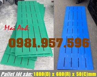 Tấm nhựa nguyên sinh kê hàng, pallet nhựa lót sàn, pallet dài 1M8