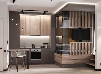 5 Desain Interior Apartemen Studio ini Boleh Anda Tiru