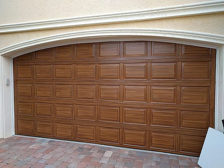 Garage door five rows high everything i create paint for Paint garage door to look like wood