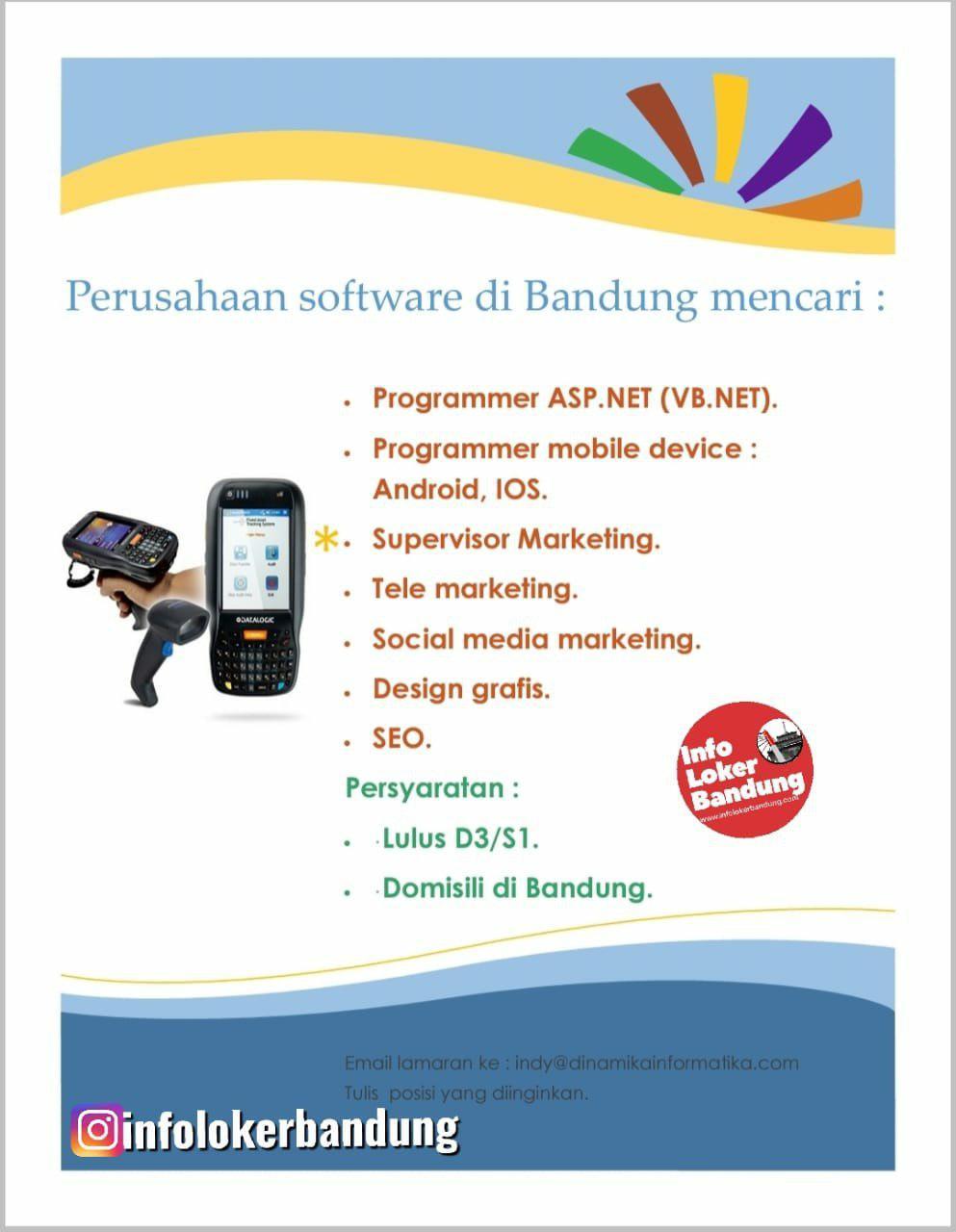 Lowongan Kerja Perusahaan Software Dinamika Informatika Bandung Juni 2019