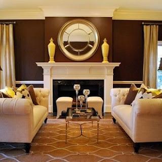sala en color marón