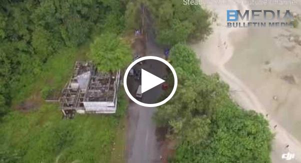 Rakam video guna Drone ~ Asalnya nak rakam video landskap udara, tapi tak sengaja rakam kejadian ni!!
