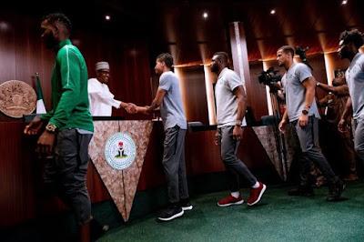 Super Eagles Players Meet President Buhari - Image ~ Naijabang