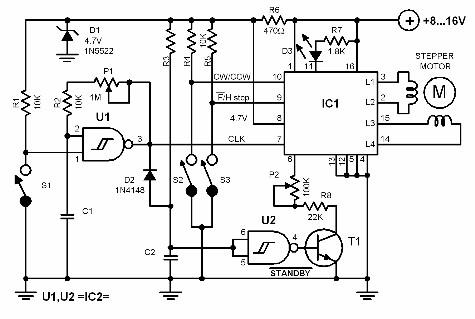 bipolar-step-motor-controller-circuit