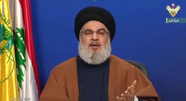 """حسن نصرالله عن """"تصريح مضحك"""" لبومبيو: كيف ستخرج حزب الله من لبنان؟"""