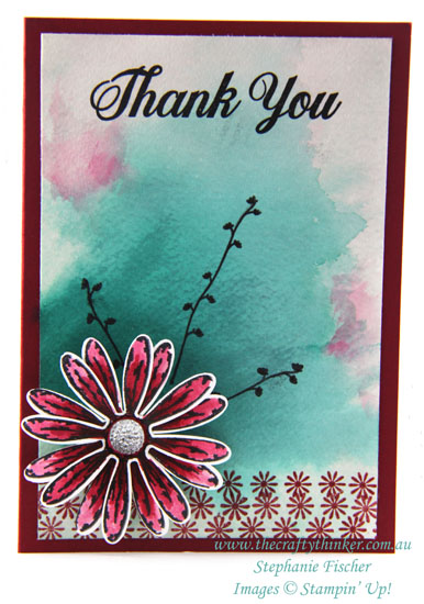 Daisy Delight Bundle sneak peek, Watercolour Wash, #thecraftythinker, Stampin Up Australia Demonstrator, Stephanie Fischer, Sydney NSW