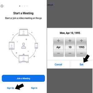 Cara Membuat akun zoom di smartphone