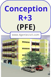 Conception immeuble bureaux R+3 - PFE