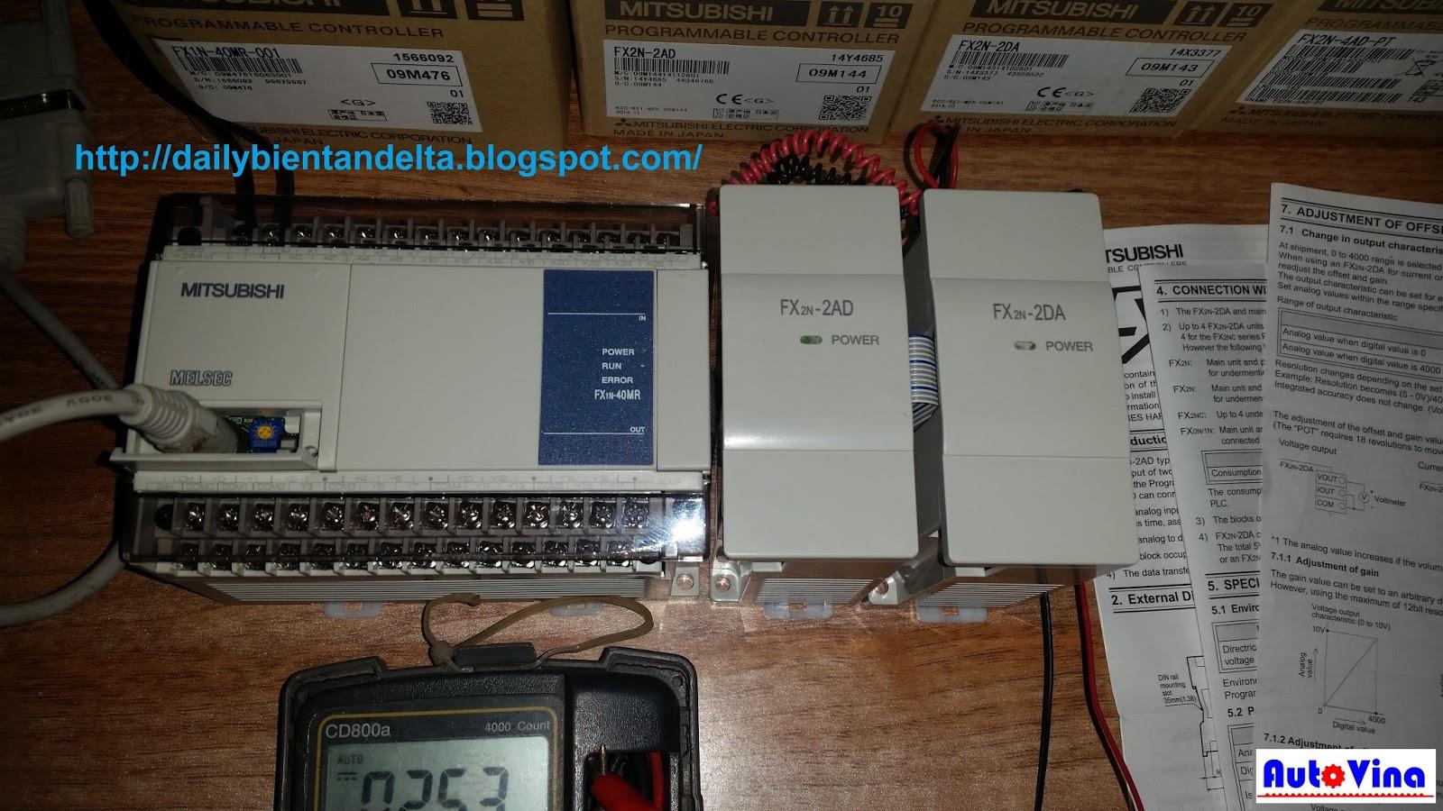 Hướng dẫn chọn địa chỉ module analog khi kết nối PLC Mitsubishi