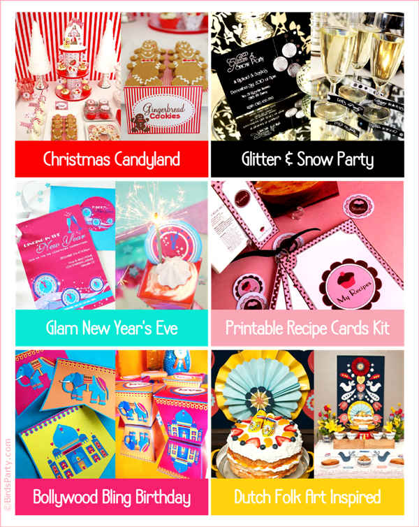 Ideas & Printables for Last Minute End-of-Year Parties - BirdsParty.com