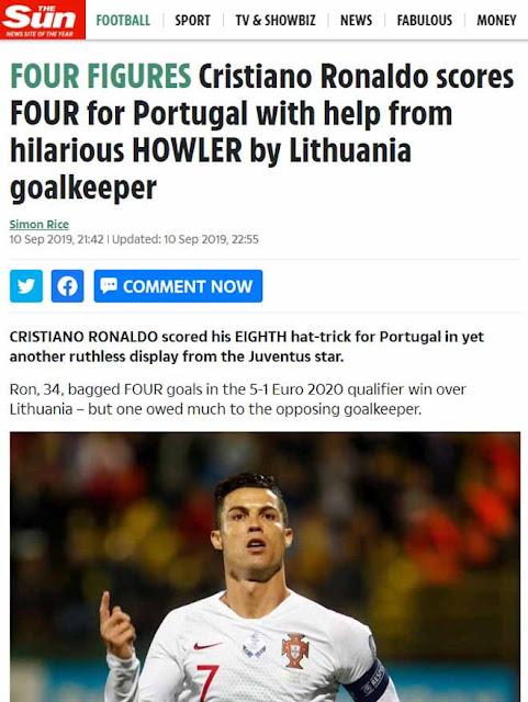 """Ronaldo chói sáng 4 bàn: Báo chí thế giới ngả mũ kính nể """"vua châu Âu"""" 8"""