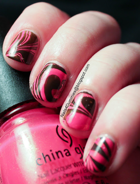 Pink & Brown Water Marble
