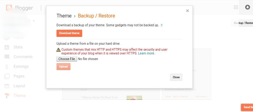 Backup /restore