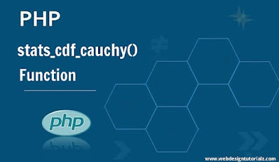 PHP stats_cdf_cauchy() Function