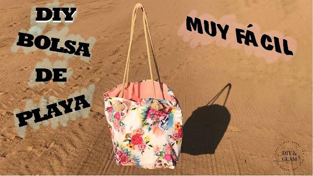 Diy bolsa de playa muy fácil