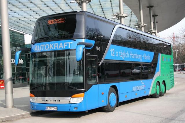 De ônibus de Berlim até Hamburgo
