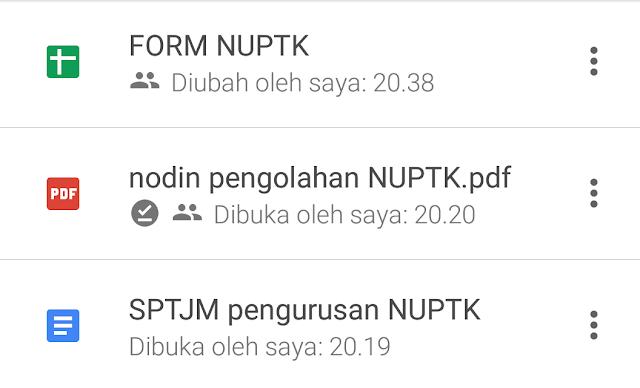 Salinan dari nota dinas orisinil perihal pengolaan NUPTK Download SPTJM Untuk Pengajuan NUPTK Baru