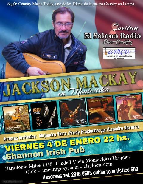 Jackson Mackay por primera vez en Uruguay.