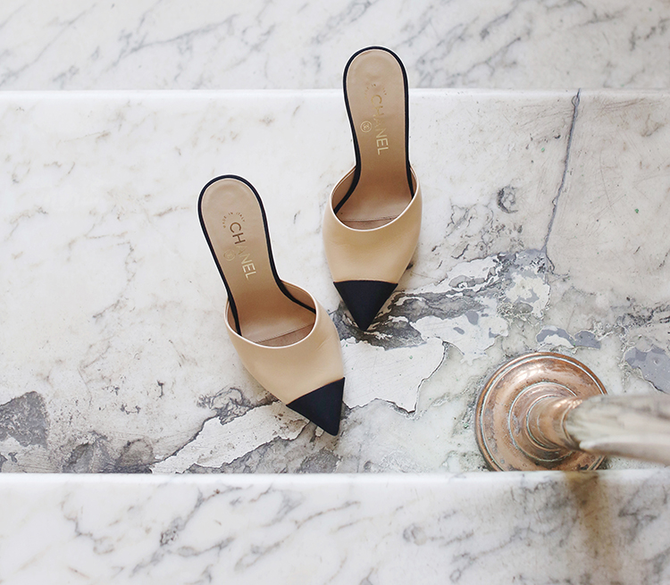 Shoe of the Month: Chanel pearl mules