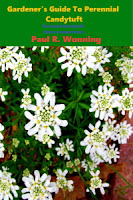 A book cover depicting the perennial flower candytuft