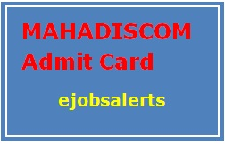 MAHADISCOM Admit Card 2017