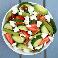 Strawberry Salad with Homemade Balsamic Vinaigrette Dressing Recipe