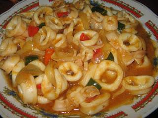 Resep Masakan Cumi Asam Manis Pedas Basah – Memasak Seafood Bumbu Sederhana