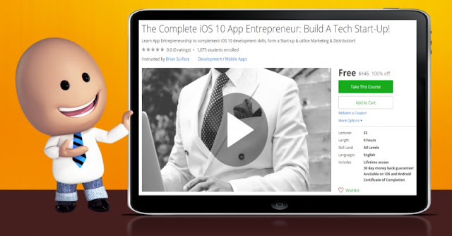 [100% Off] The Complete iOS 10 App Entrepreneur: Build A Tech Start-Up!|Worth 145$