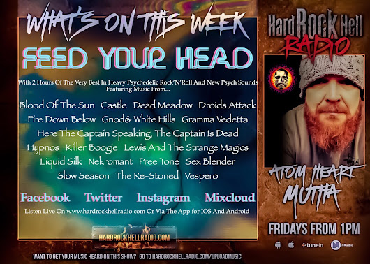 On This Weeks Atom Heart Mutha for Hard Rock Hell Radio.... (12.10.18)