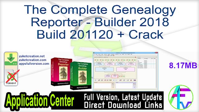 The Complete Genealogy Reporter – Builder 2018 Build 201120 + Crack
