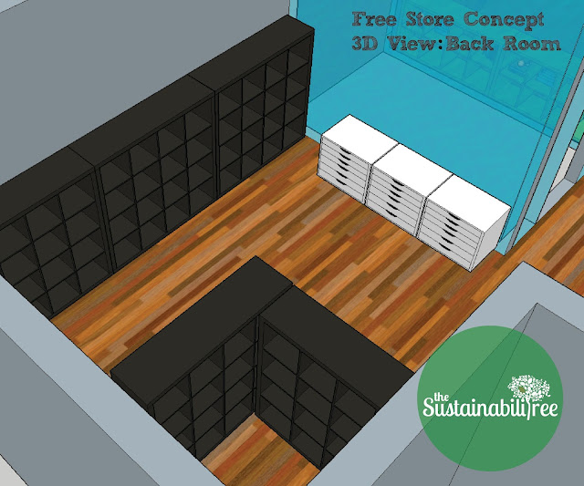 A 3D conceptual model of the uOttawa Free Store space