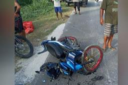 Tiga Motor Terlibat Kecelakaan di Nimbokrang, DIduga Akibat Hamparan Karang di Jalan