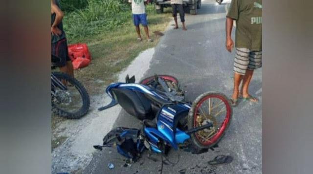 Tiga Motor Terlibat Kecelakaan di Nimbokrang, DIduga Akibat Hamparan Karang di Jalan.lelemuku.com.jpg