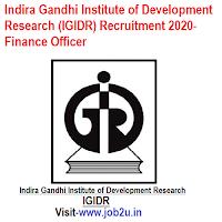 Indira Gandhi Institute of Development Research (IGIDR) Recruitment 2020, Finance Officer