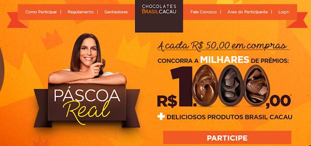 Promoção Páscoa 2019 Brasil Cacau