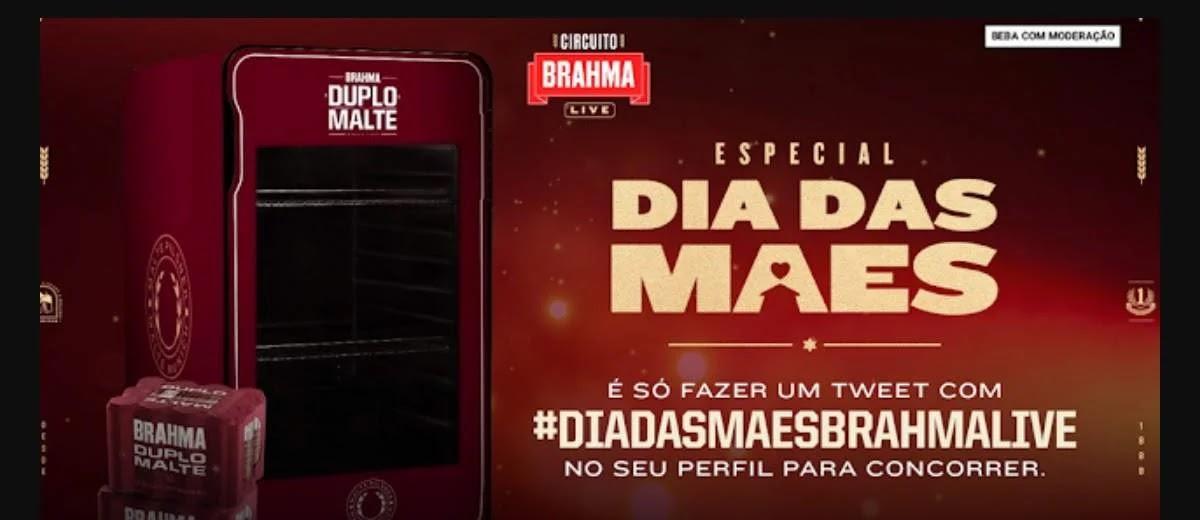 Promoção Brahma Live Dia das Mães 2020 Concorra Cervejeira Duplo Malte