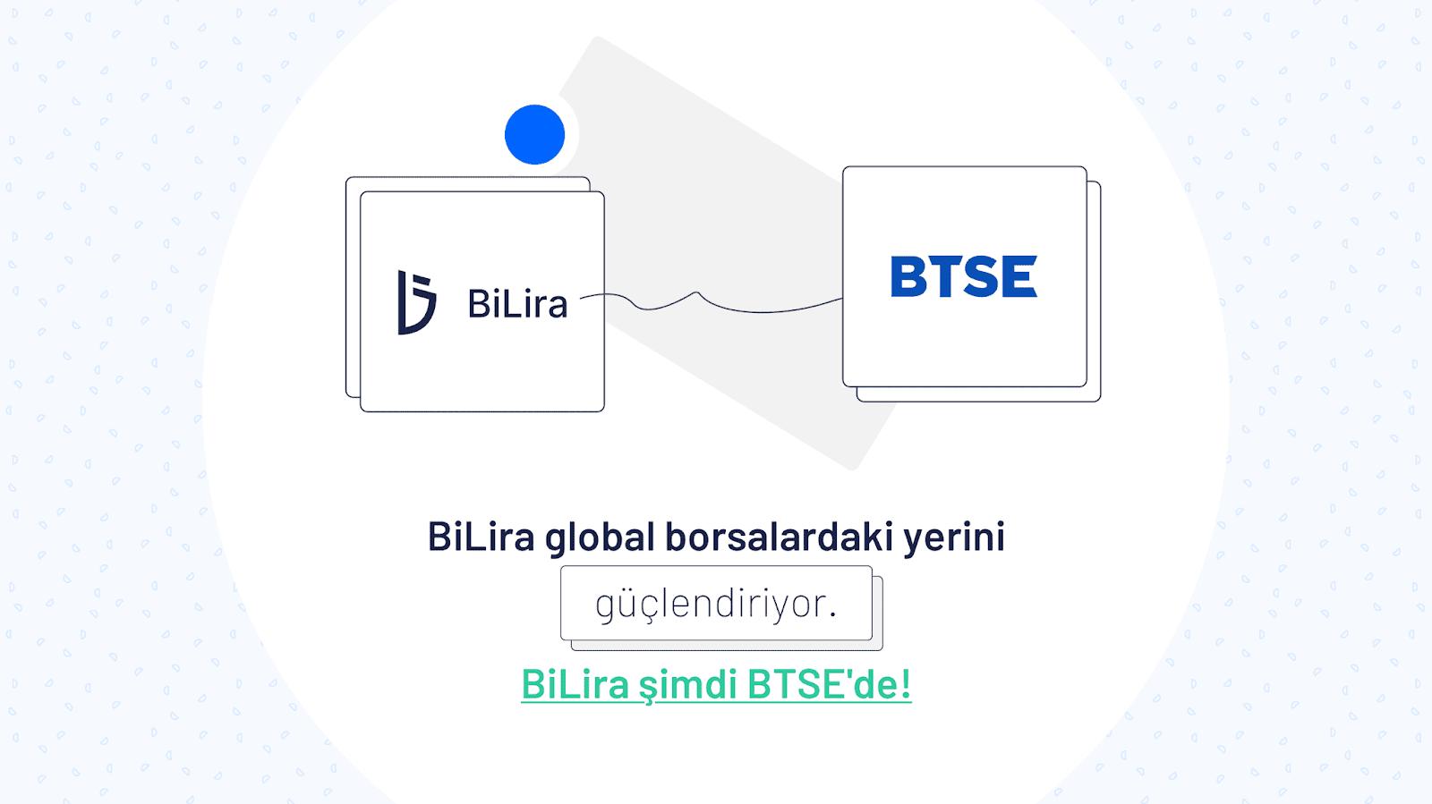 BiLira BTSE'de Listelenmeye Başladı!