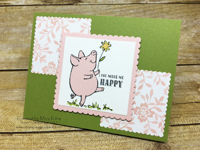 Stampin' Up! This Little Piggy by Mary Kiely for pre order swap for Stamping to Share.