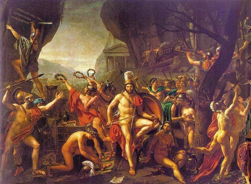 Leônidas nas Termópilas - David, Jacques-Louis e suas principais pinturas ~ Representante do neoclassicismo