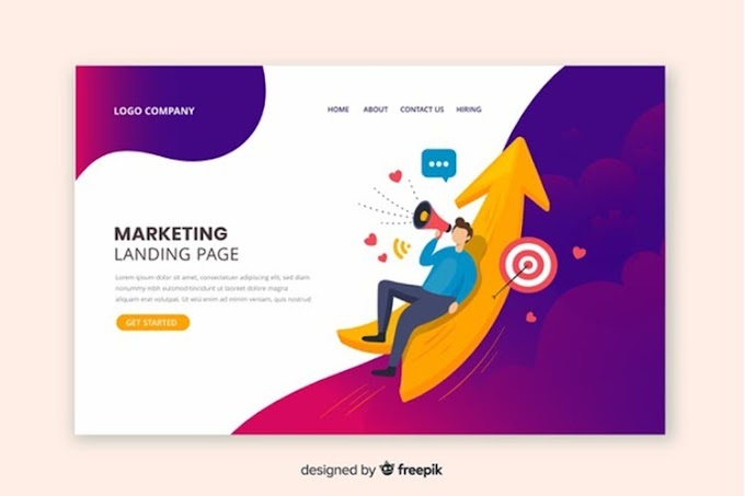 Flat Marketing Landing Page Template Free Vector