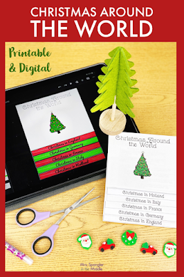 Combine Christmas activities and research using this interactive and creative flipbook with for your middle school students!   It's an authentic holiday research and writing experience!