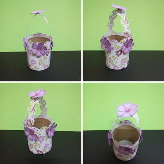 Flower paper baskets