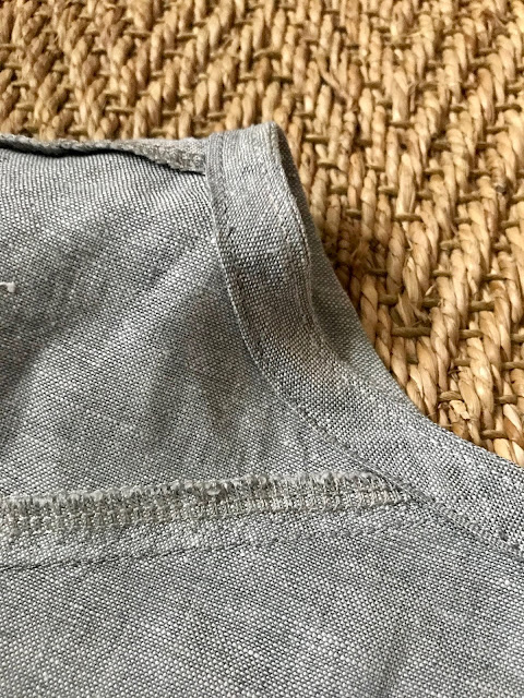 Diary of a Chain Stitcher: Closet Case Patterns Cielo Top in Linen from The Fabric Store