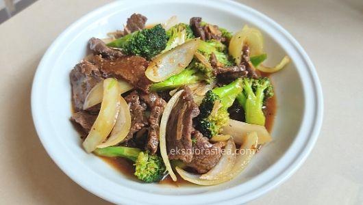 daging goreng blackpepper dan brokoli