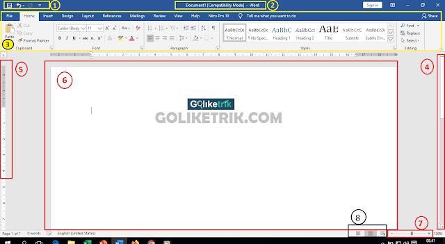 Belajar Dasar Microsoft Word - Bagian-bagian Microsoft Word